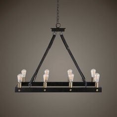 Lowest price online on all Uttermost Marlow 8 Light Rectangle Chandelier - 21279 Hanging Chandelier, Bronze Chandelier, Hanging Lights, Chandelier Lighting, Cabin Lighting, Island Lighting, Chandeliers, Rustic Mirrors, Rustic Wall Decor