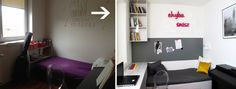 BEFORE and AFTER metamorphosis #interiordesign
