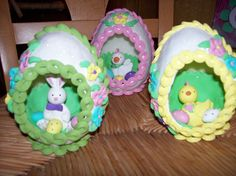Really cute Easter faux sugar candy eggs.