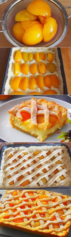 Peaches and Cream Baking Recipes, Dessert Recipes, Pancake Recipes, Good Food, Yummy Food, Homemade Pancakes, Russian Recipes, Chocolates, Sweet Recipes