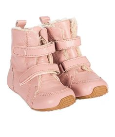 Love this Pink SNUG Leather Boot by SKEANIE