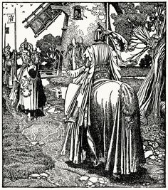 Illustration from King Arthur and his Knights, 1903, Howard Pyle