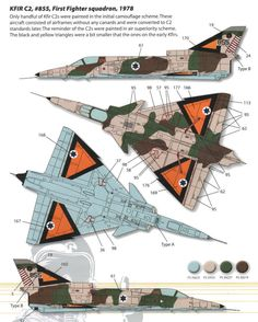 Kfir C2/C7 Early Strike Camouflage and Color Guide Added