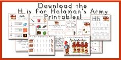 Walk Beside Me LDS Preschool. A free LDS-based letter of the week curriculum. H is for Helaman's Army