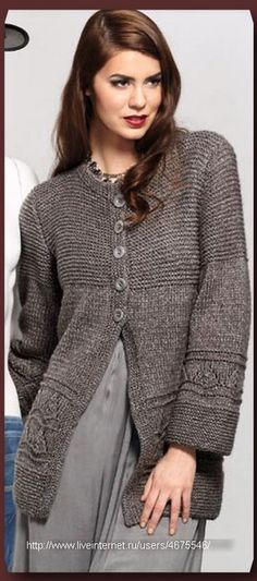 4675546_cd51d9a315ca7af016811d086bc3bb83_1 (309x700, 80Kb) Knitting Stitches, Hand Knitting, Crochet Cardigan, Knit Crochet, Clothing Patterns, Knitting Patterns, Coats For Women, Sweaters For Women, Knitted Coat