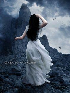 Rapture (Fallen, by Lauren Kate Lauren Kate, Dark Fantasy Art, Dark Gothic Art, Vampires, Beautiful Dark Art, Fantasy Photography, Mystique, Cool Paintings, Face Paintings