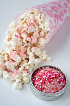 Valentines Day Gifts for Him: Our popcorn seasonings 4 tin sampler. Our Strawberry Vanilla Shake with tiny candy heart candies will help give your popcorn a soft pink color and a delicious taste. Even better, the ingredients are simple: organic dried strawberries, organic sugar infused with bourbon vanilla beans and tiny candy hearts. Romantic? Absolutely. Save the pin for later - or click on the link and see what other flavors might also make him smile.