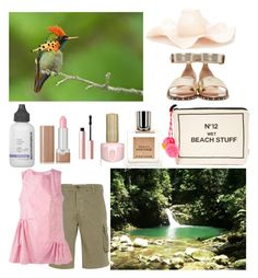 """""""Swimming Hole"""" by christined1960 ❤ liked on Polyvore featuring Bag-All, Eight & Bob, Dermalogica, Valentino, Marc Jacobs, Too Faced Cosmetics, Rosie Assoulin and P.A.R.O.S.H."""