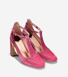 0b9ad8dced8d Collection T-Strap Pump (85mm). Shoes SandalsTop ShoesPink ShoesSuede  Chelsea BootsChanelT Strap HeelsRetroCreative ...