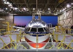 American Airlines Plane in a Hangar