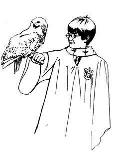 kleurplaat Harry Potter en de Steen der Wijzen Kids-n-Fun