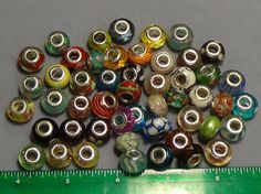 50 pieces lot mixed murano lampwork glass beads fit European bracelets 3 #Unbranded #Lampwork
