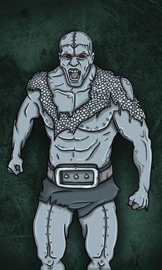JAVIER ARRÉS ILLUSTRATION: Card for RPG fantasy videogame. (without frame)   http://www.illustratorfreelance.com/