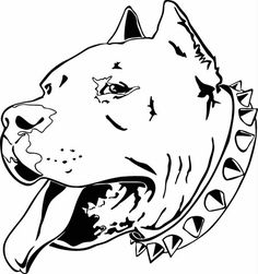 Pit Bull Head Profile Vinyl Cut Out Decal, Sticker - Choose your Color – Vinyl Ink Design