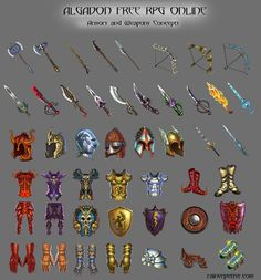 Armors and Weapons Concepts by rainerpetterart.deviantart.com on @deviantART