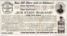 Original-Werbung/ Anzeige  1897 - ZUR STADT MAILAND / EAU DE COLGNE - KÖLN - ca…