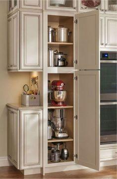 Appliance Storage   44 Insane Farmhouse Kitchen Makeover Ideas