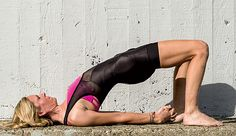 These simple poses will help stretch your muscles and focus your breath for a better ride