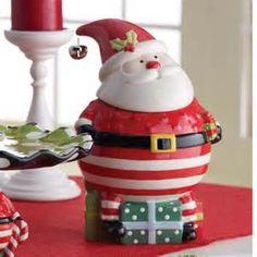 santa cookie jars - Bing Images