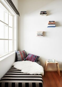 reading corner.  Photo - Annette O'Brien, styling – Alana Langan of Hunt & Bow | the design files