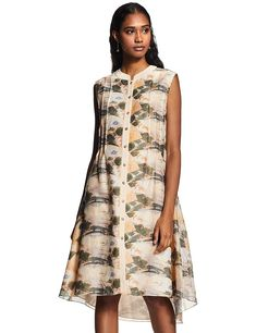 Care Instructions: Dry Clean Only     Fit Type: Regular     Pattern: Floral     Neck Type: Flat Band     Length: Knee Length Women's Knee Length Dresses, Branding Design, High Neck Dress, Indian, Flat, Band, Type, Luxury, Casual