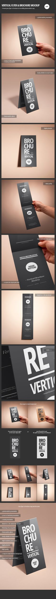 Vertical Flyer & Brochure Mock-Up on Behance