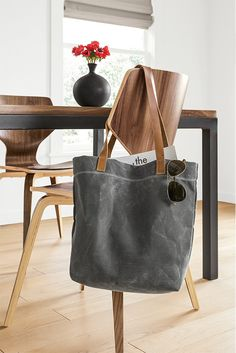 Our Mercantile tote is a great solution for a dad on the go.