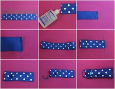 This is a quick and easy sewing tutorial for making a lip balm holder. It is made with grosgrain ribbon and a binder clip.