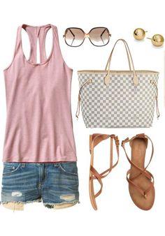 Louis Vuitton Damier Azur Canvas Neverfull Bags GM N51108