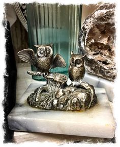 Owl on Marble Base, $8.  Gaslamp Antiques, booth S544.