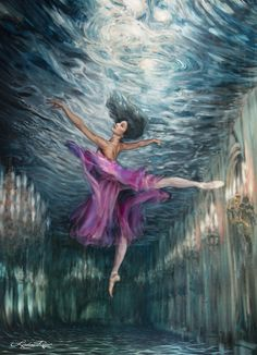 look at this amazing artwork by Lindsay Rapp  #dancer #ballet #water