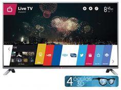 "Smart TV LED 3D 60"" LG 60LB6500 Full HD 1080p - Conversor Integrado DTV 3 HDMI 3 USB Wi-Fi WebOS"
