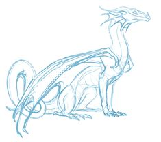 quick doodle of Glory from Wings of Fire colors later Creature Drawings, Animal Drawings, Cool Drawings, Dragon Base, Dragon Wing, Dragon Anatomy, Fire Drawing, Wings Of Fire Dragons, Dragon Sketch