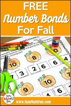 Do your kindergarten or 1st grade students need more addition practice? Try these FREE number bond cut and glue worksheets that are more engaging than a standard worksheet. They have a cute fall� More