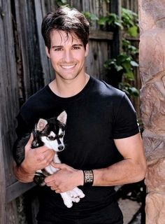 James Maslow - hot guy with a puppy?  Who could resist those faces??