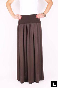 Maxi sukňa hnedá