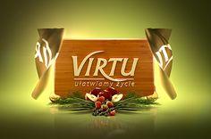 Animowane logo zrealizowane dla firmy Virtu produkującej żywność