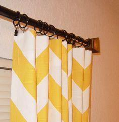 TWO 25 W Panels Zippy Curtain Custom Drapes Yellow by SewPanache, $55.00
