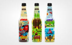 Jones Jumble Soda on Packaging of the World - Creative Package Design Gallery Simple Packaging, Beverage Packaging, Bottle Packaging, Product Packaging, Juice Packaging, Jones Soda, Coca Cola, Packaging Inspiration, Shopping
