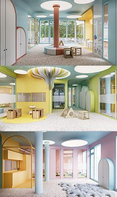 Kindergarten Interior, Kindergarten Design, Reception Desk Design, Hospital Design, Kids Room Design, Commercial Interiors, Kid Spaces, Patio Design, School Design
