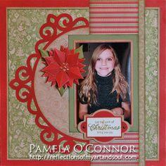 Cricut Artiste Pear & Partridge Scrapbook Layout by Pamela O'Connor