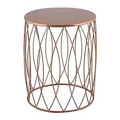 Alfie Copper Side Table (£61) ❤ liked on Polyvore featuring home, furniture, tables, accent tables, copper side table, art deco furniture, art deco side table, copper furniture and copper table