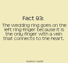 Fact bout wedd ring..