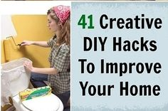 Community Post: 41 Creative DIY Hacks To Improve Your Home (seriously great tips that at least I hadn't seen before!)