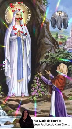 Jesus And Mary Pictures, Mother Mary Images, Pictures Of Jesus Christ, Images Of Mary, Bible Pictures, Mary And Jesus, Good Night Love Quotes, Good Night Prayer, Good Morning Gif Images