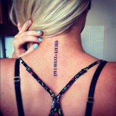 i think i need a roman numeral tattoo