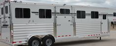 4-Star Trailers 4H Head to Head - 7'x 28' x 8' Tall with the new 'Easy Lift' Side Ramp  (800) 848-3095