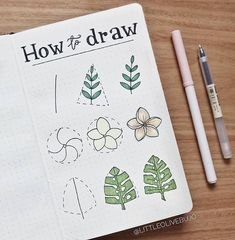 Bullet journal, Bullet journal doodles, Drawings, Bullet journal inspo, Bullet journal Bullet journal inspiration - Want to learn how to doodle in your bullet journal These 50 doodle doodle ho - Bullet Journal Ideas Pages, Bullet Journal Art, Bullet Journal Doodles, Sketch Book, Drawing Tutorial, Doodle Art, Plant Doodle, Hand Lettering, Art Journal