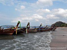 Dias 87 a 90 da viagem: Krabi, Au Nang e Koh Phi Phi, Tailândia - Viagem Lenta Krabi, Rio, Boat, Littoral Zone, City, Dinghy, Boats, Ship