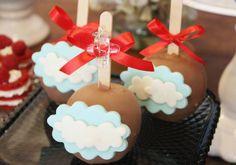 Maças de chocolate de nuvem